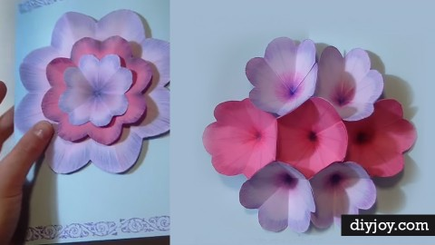 Creative DIY Mother's Day Card With Pop Up Flowers   DIY Joy Projects and Crafts Ideas