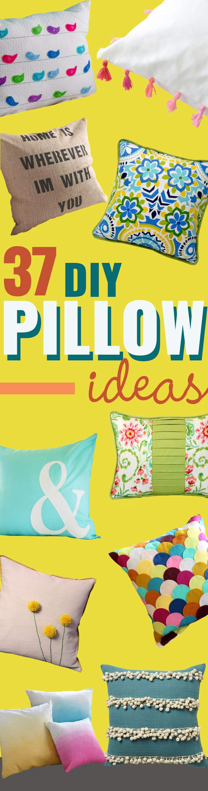 DIY Pillows and Creative Pillow Projects - Decorative Cases and Covers Throw Pillows Cute & 37 DIY Pillows That Will Upgrade Your Decor In Minutes - Page 4 of ... pillowsntoast.com