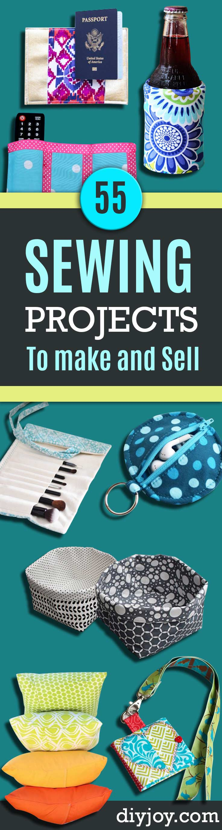 55 sewing projects to make and sell for Money making crafts to sell