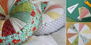 Colorful Sprocket Pillow Sewing Tutorial