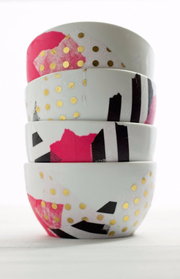 Easy Crafts To Make and Sell - 20 Minute Mod Podge Bowls - Cool Homemade Craft Projects You Can Sell On Etsy, at Craft Fairs, Online and in Stores. Quick and Cheap DIY Ideas that Adults and Even Teens #craftstosell #diyideas #crafts