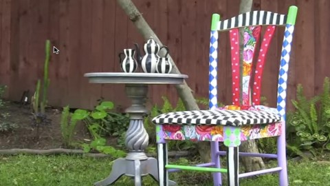 Can We Say Easy AND Stunning?  Amazing Alice in Wonderland Chair! | DIY Joy Projects and Crafts Ideas