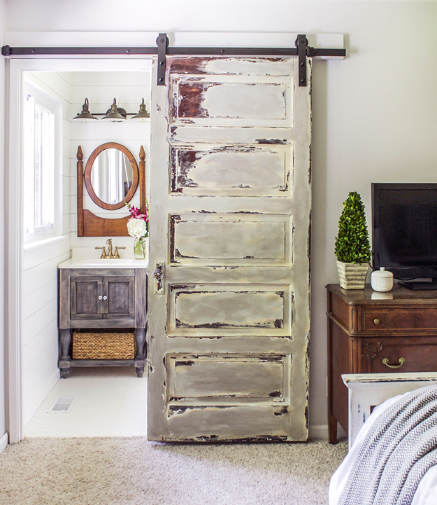DIY Farmhouse Style Decor Ideas - Barn Door Tutorial - Rustic Ideas for Furniture, Paint Colors, Farm House Decoration for Living Room, Kitchen and Bedroom #diy