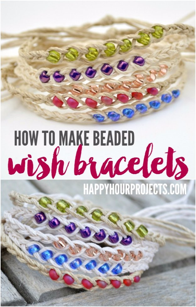 Easy Crafts To Make and Sell - Beaded Wish Bracelets - Cool Homemade Craft Projects You Can Sell On Etsy, at Craft Fairs, Online and in Stores. Quick and Cheap DIY Ideas that Adults and Even Teens #craftstosell #diyideas #crafts