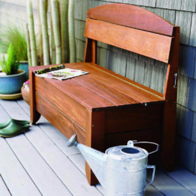 Creative Ways to Increase Curb Appeal on A Budget - Bench Hose Storage - Cheap and Easy Ideas for Upgrading Your Front Porch, Landscaping, Driveways, Garage Doors, Brick and Home Exteriors. Add Window Boxes, House Numbers
