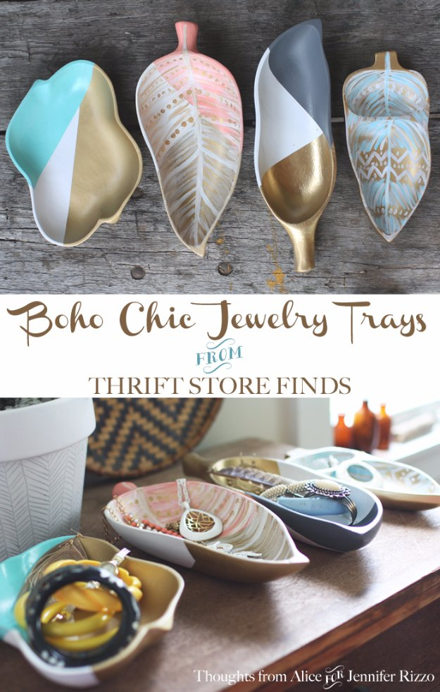 Easy Crafts To Make and Sell - Boho Chic Jewelry Tray - Cool Homemade Craft Projects You Can Sell On Etsy, at Craft Fairs, Online and in Stores. Quick and Cheap DIY Ideas that Adults and Even Teens #craftstosell #diyideas #crafts