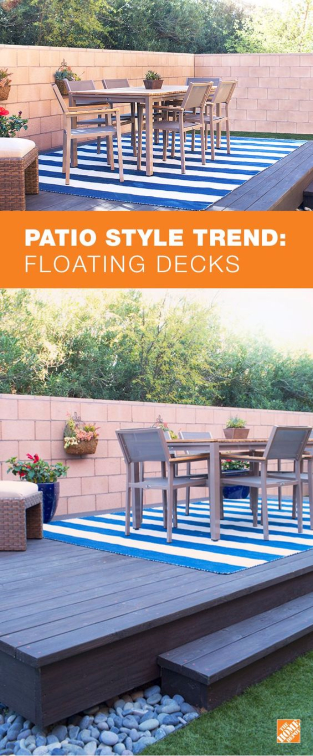 Creative Ways to Increase Curb Appeal on A Budget - Build A Floating Deck - Cheap and Easy Ideas for Upgrading Your Front Porch, Landscaping, Driveways, Garage Doors, Brick and Home Exteriors. Add Window Boxes, House Numbers