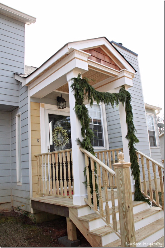 Creative Ways to Increase Curb Appeal on A Budget - Build A Front Portico - Cheap and Easy Ideas for Upgrading Your Front Porch, Landscaping, Driveways, Garage Doors, Brick and Home Exteriors. Add Window Boxes, House Numbers