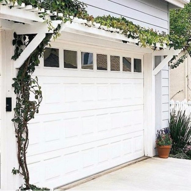 Creative Ways to Increase Curb Appeal on A Budget - Build Pergola Over Garage - Cheap and Easy Ideas for Upgrading Your Front Porch, Landscaping, Driveways, Garage Doors, Brick and Home Exteriors. Add Window Boxes, House Numbers