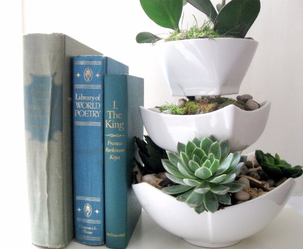 Easy Crafts To Make and Sell - Ceramic Bowl Succulents - Cool Homemade Craft Projects You Can Sell On Etsy, at Craft Fairs, Online and in Stores. Quick and Cheap DIY Ideas that Adults and Even Teens #craftstosell #diyideas #crafts
