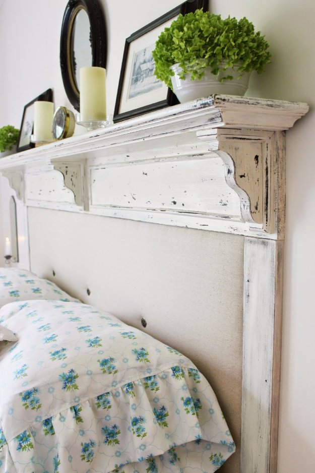 DIY Headboard Ideas - Converted Shelf Headboard DIY - Easy and Cheap Do It Yourself Headboards - Upholstered, Wooden, Fabric Tufted, Rustic Pallet, Projects With Lights, Storage and More Step by Step Tutorials #diy #bedroom #furniture