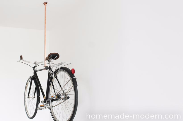 DIY Projects Your Garage Needs -Copper Bike Rack - Do It Yourself Garage Makeover Ideas Include Storage, Organization, Shelves, and Project Plans for Cool New Garage Decor #diy #garage #homeimprovement