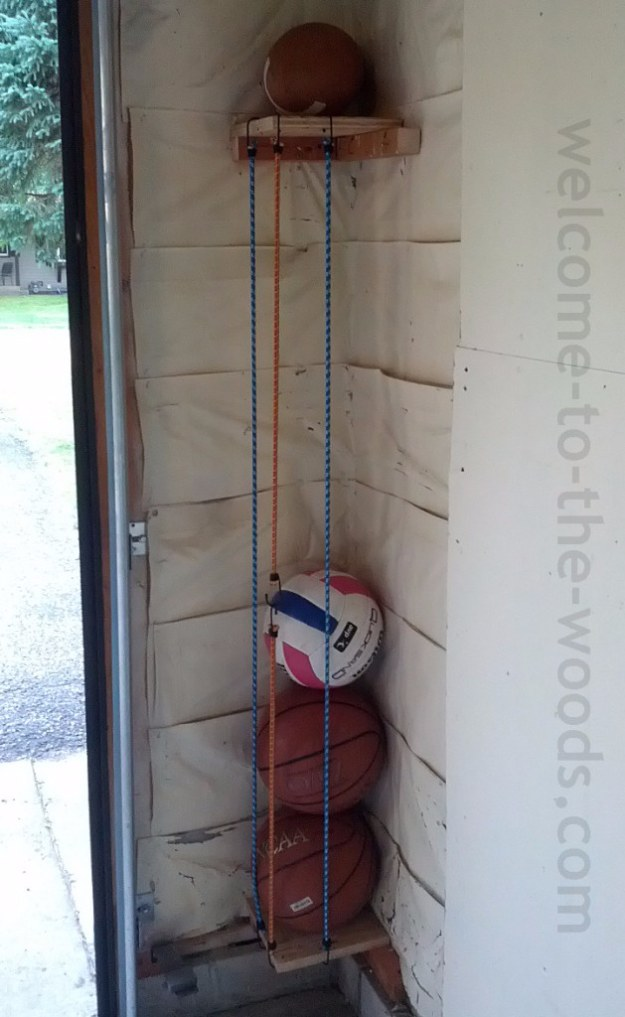 DIY Projects Your Garage Needs -DIY Ball Corral - Do It Yourself Garage Makeover Ideas Include Storage, Organization, Shelves, and Project Plans for Cool New Garage Decor #diy #garage #homeimprovement
