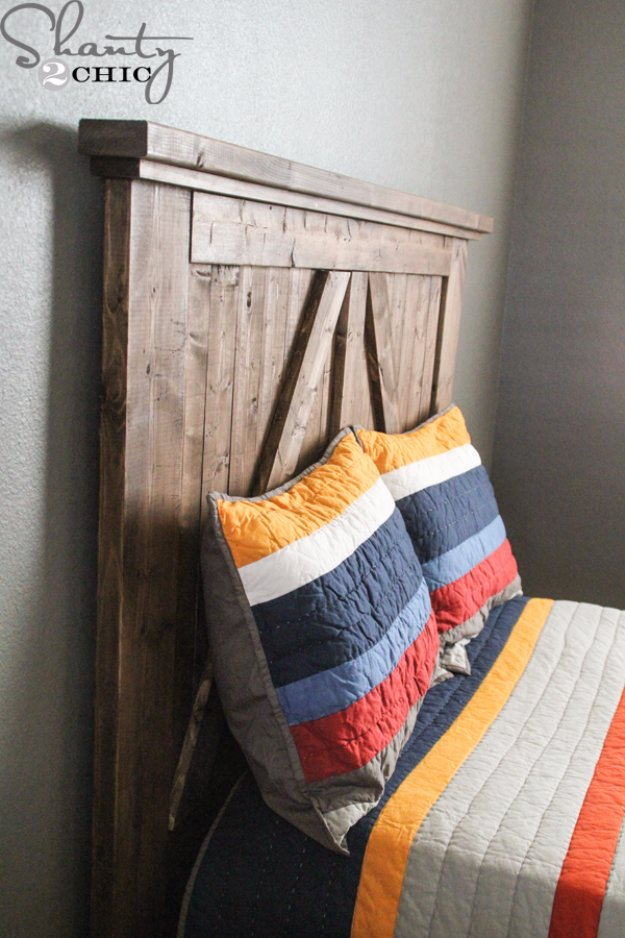 DIY Headboard Ideas - DIY Barn Door Headboard - Easy and Cheap Do It Yourself Headboards - Upholstered, Wooden, Fabric Tufted, Rustic Pallet, Projects With Lights, Storage and More Step by Step Tutorials #diy #bedroom #furniture