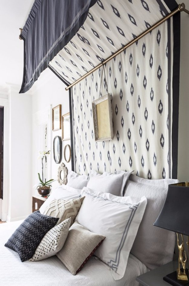 DIY Headboard Ideas - DIY Bed Canopy Headboard - Easy and Cheap Do It Yourself Headboards - Upholstered, Wooden, Fabric Tufted, Rustic Pallet, Projects With Lights, Storage and More Step by Step Tutorials #diy #bedroom #furniture