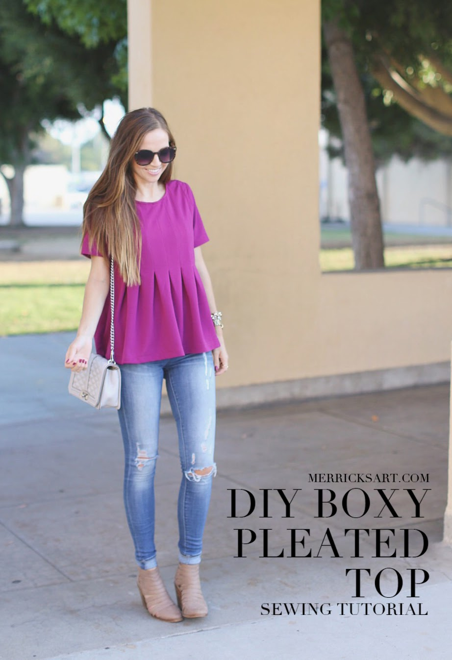 DIY Sewing Projects for Women - DIY Boxy Pleated Top - How to Sew Dresses, Blouses, Pants, Tops and Fashion. Step by Step Tutorials and Instructions #sewing #fashion