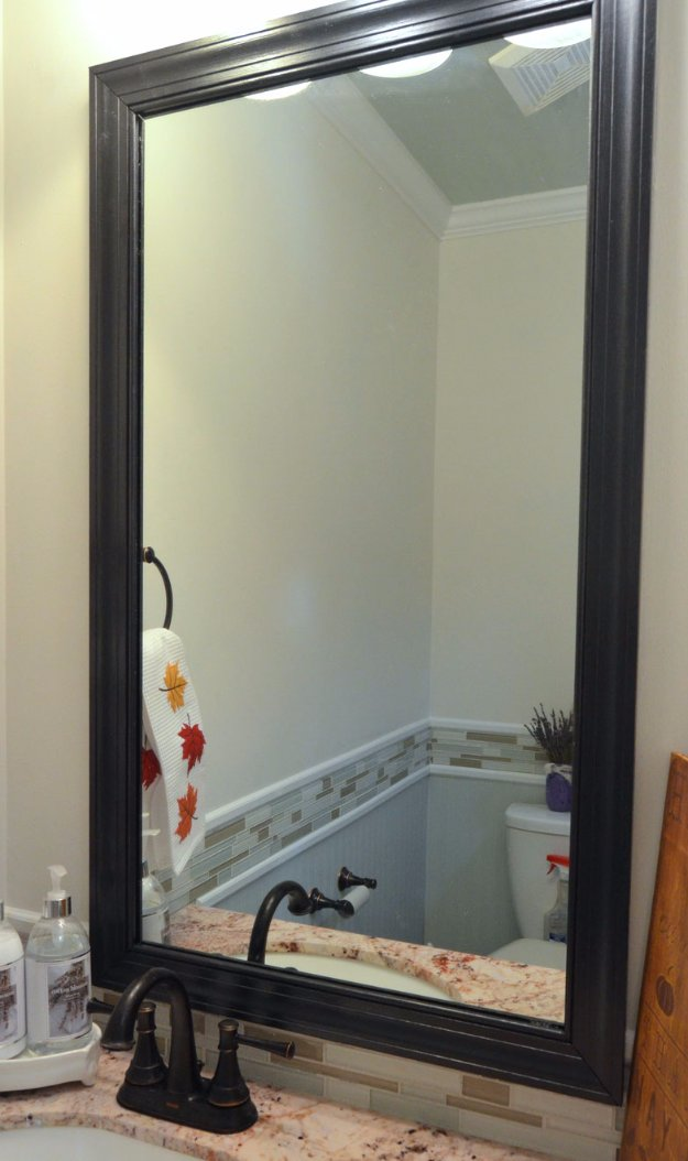 DIY Bathroom Decor Ideas - DIY Clipped On Bathroom Mirror - Cool Do It Yourself Bath Ideas on A Budget, Rustic Bathroom Fixtures, Creative Wall Art, Rugs mason jar idea bath diy
