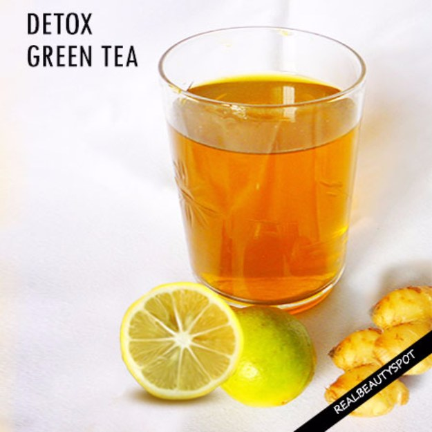 DIY Detox Recipes, Ideas and Tips - DIY Detox Green Tea - How to Detox Your Body, Brain and Skin for Health and Weight Loss. Detox Drinks, Waters, Teas, Wraps, Soup, Masks and Skincare Products You Can Make At Home http://diyjoy.com/diy-detox-ideas