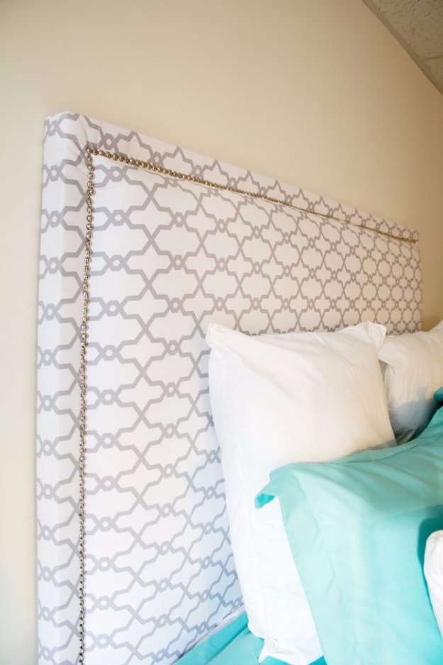 DIY Headboard Ideas - DIY Fabric Headboard - Easy and Cheap Do It Yourself Headboards - Upholstered, Wooden, Fabric Tufted, Rustic Pallet, Projects With Lights, Storage and More Step by Step Tutorials #diy #bedroom #furniture
