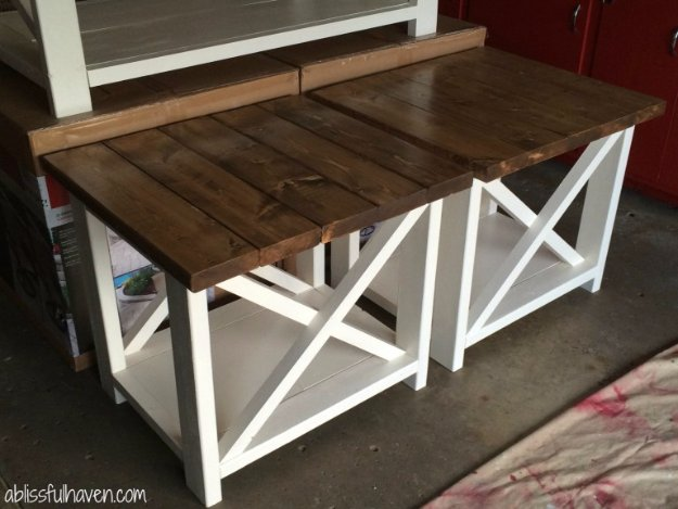 DIY End Tables with Step by Step Tutorials - DIY Farmhouse End Tables - Cheap and Easy End Table Projects and Plans - Wood, Storage, Pallet, Crate, Modern and Rustic. Bedroom and Living Room Decor Ideas #endtables #diydecor #diy