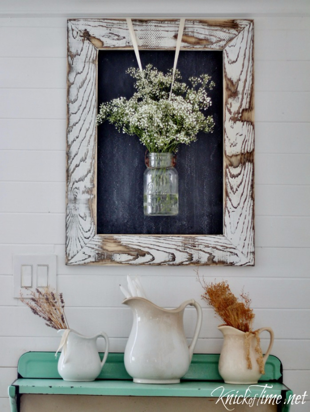DIY Farmhouse Style Decor Ideas - DIY Farmhouse Rustic Wooden Frame - Rustic Ideas for Furniture, Paint Colors, Farm House Decoration for Living Room, Kitchen and Bedroom