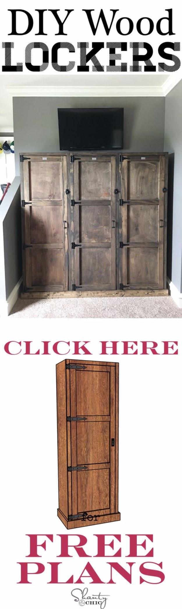 DIY Projects Your Garage Needs -DIY Garage Locker System - Do It Yourself Garage Makeover Ideas Include Storage, Organization, Shelves, and Project Plans for Cool New Garage Decor #diy #garage #homeimprovement