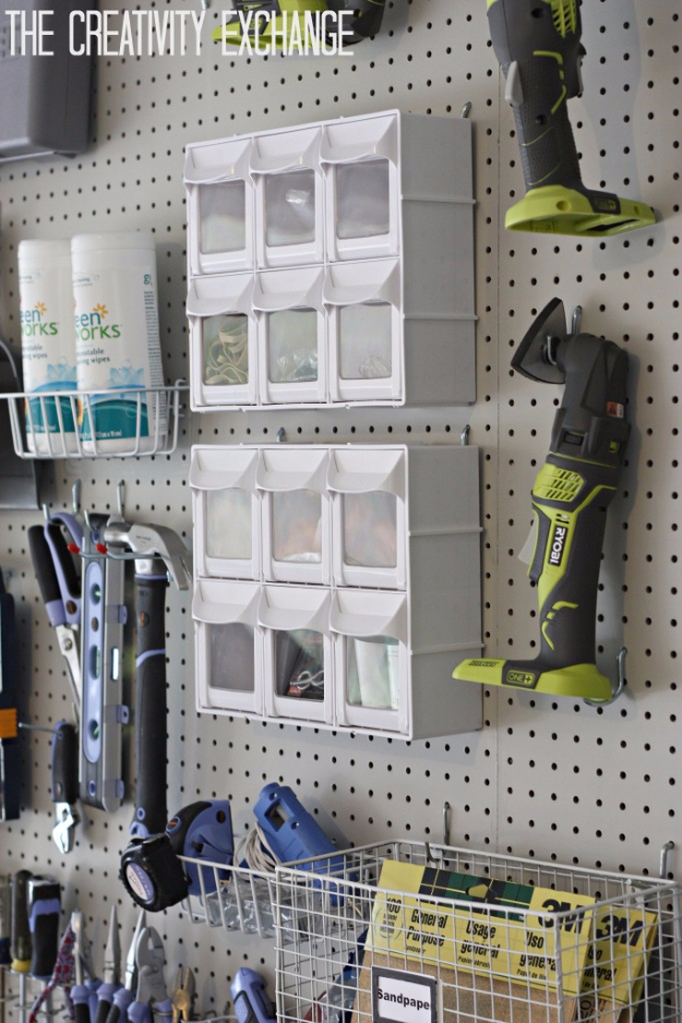 DIY Projects Your Garage Needs -DIY Garage Pegboard Storage System - Do It Yourself Garage Makeover Ideas Include Storage, Organization, Shelves, and Project Plans for Cool New Garage Decor #diy #garage #homeimprovement