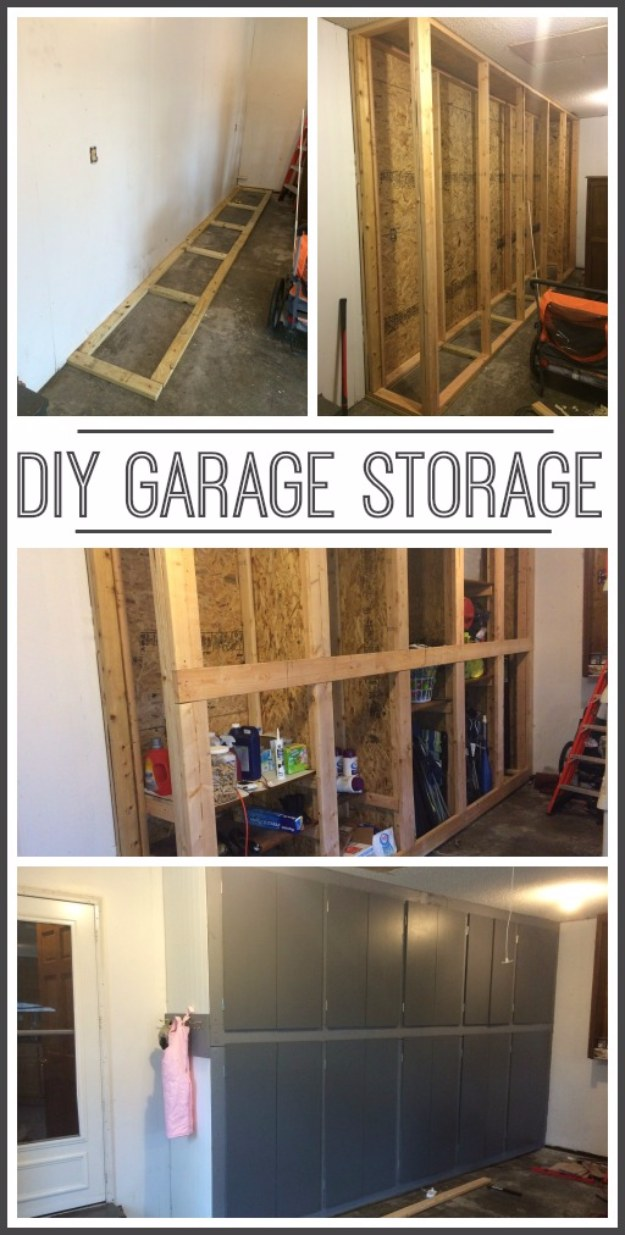 DIY Projects Your Garage Needs -DIY Garage Storage Cabinets - Do It Yourself Garage Makeover Ideas Include Storage, Organization, Shelves, and Project Plans for Cool New Garage Decor #diy #garage #homeimprovement