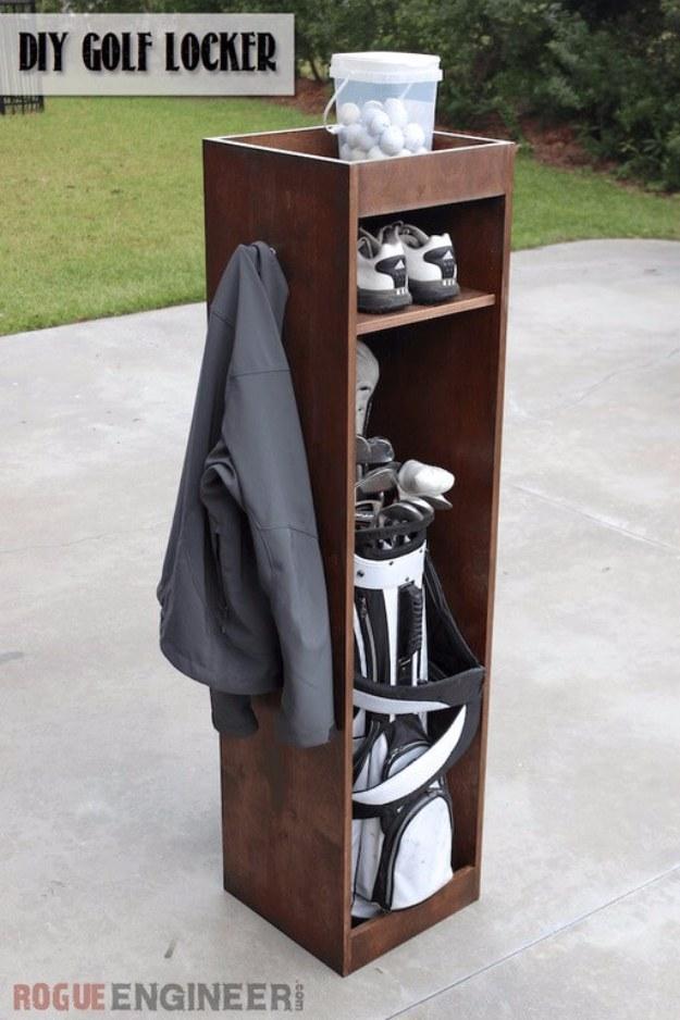 36 diy ideas you need for your garage page 5 of 7 diy joy diy projects your garage needs diy golf locker do it yourself garage makeover ideas solutioingenieria Gallery