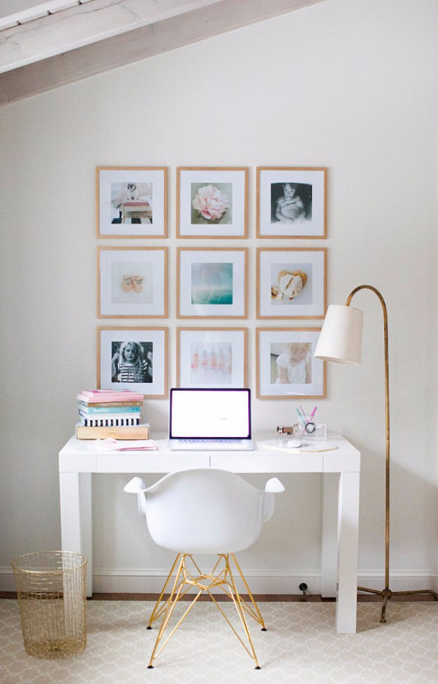 28 home office decorating ideas designed to make work fun top reveal diy home office decor ideas diy instagram gallery wall solutioingenieria Gallery