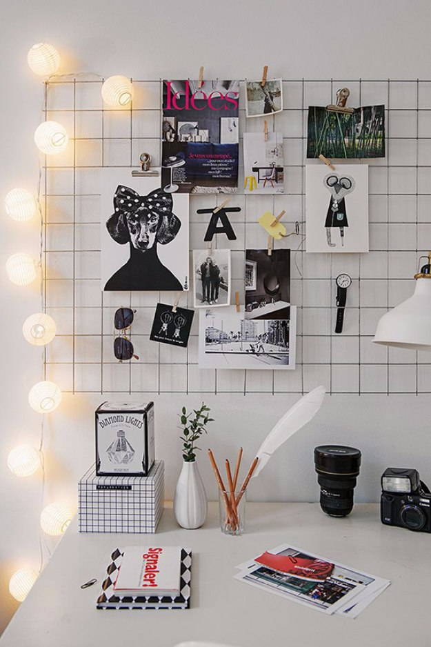 diy office decorations. Wonderful Decorations Diy Office Exellent Home Office Decor Ideas Iron Mesh Mood Board  Do It Inside Diy Office Decorations