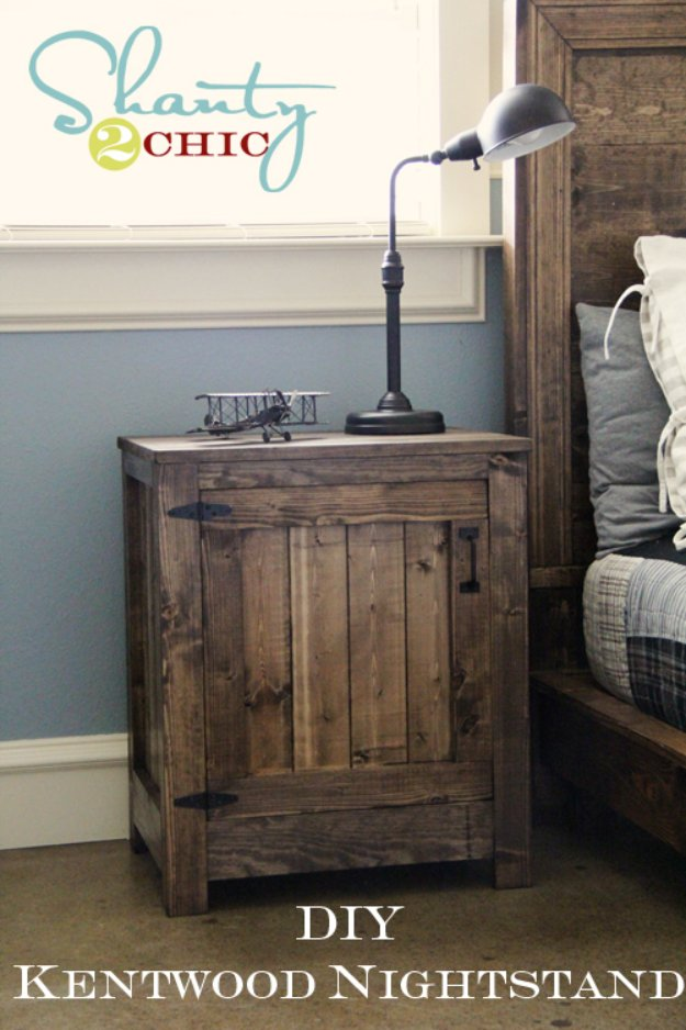 DIY End Tables with Step by Step Tutorials - DIY Kentwood Nightstand - Cheap and Easy End Table Projects and Plans - Wood, Storage, Pallet, Crate, Modern and Rustic. Bedroom and Living Room Decor Ideas #endtables #diydecor #diy