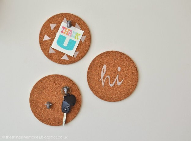 DIY Kitchen Decor Ideas - DIY Mini Pin Boards - Creative Furniture Projects, Accessories, Countertop Ideas, Wall Art, Storage, Utensils, Towels and Rustic Furnishings #diyideas #kitchenideassc