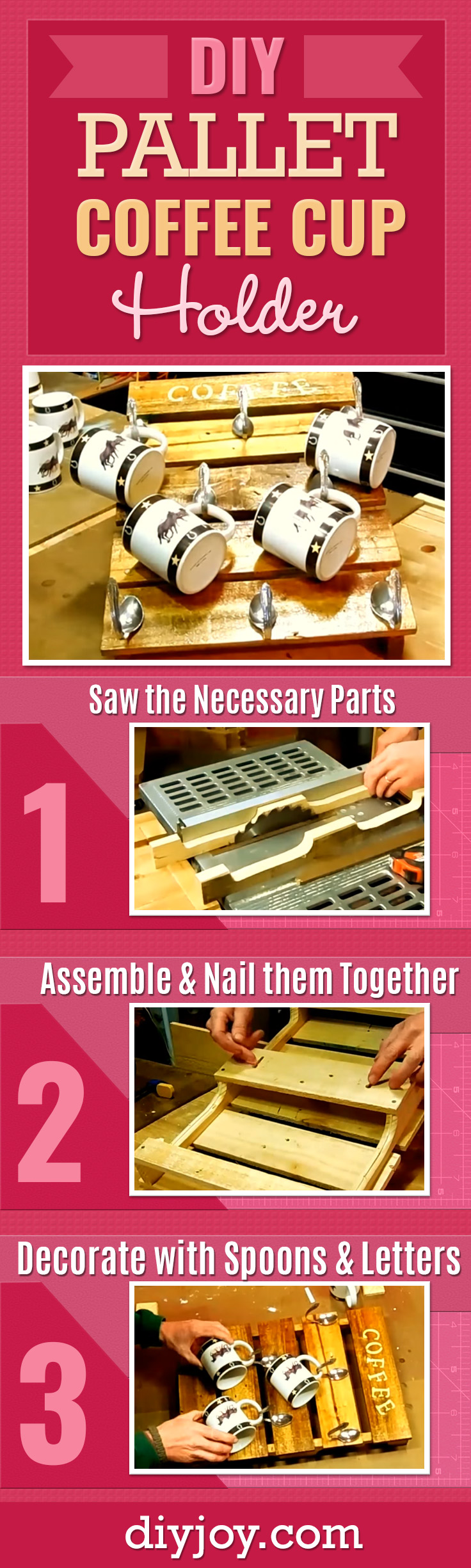 Diy Pallet Coffee Cup Holder Creative Kitchen And Home Decor Made Easy With This