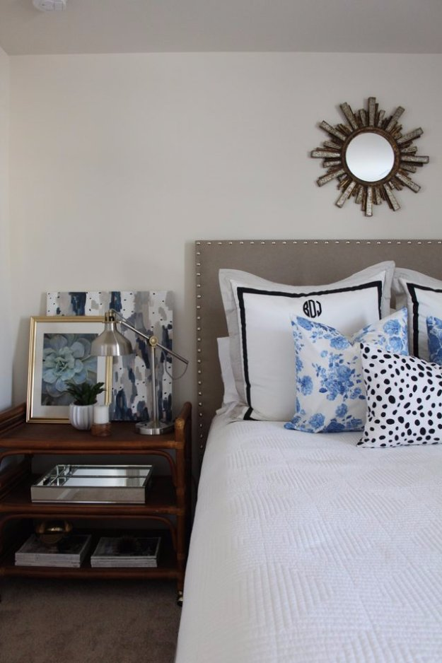 DIY Headboard Ideas - DIY Padded Headboard - Easy and Cheap Do It Yourself Headboards - Upholstered, Wooden, Fabric Tufted, Rustic Pallet, Projects With Lights, Storage and More Step by Step Tutorials #diy #bedroom #furniture
