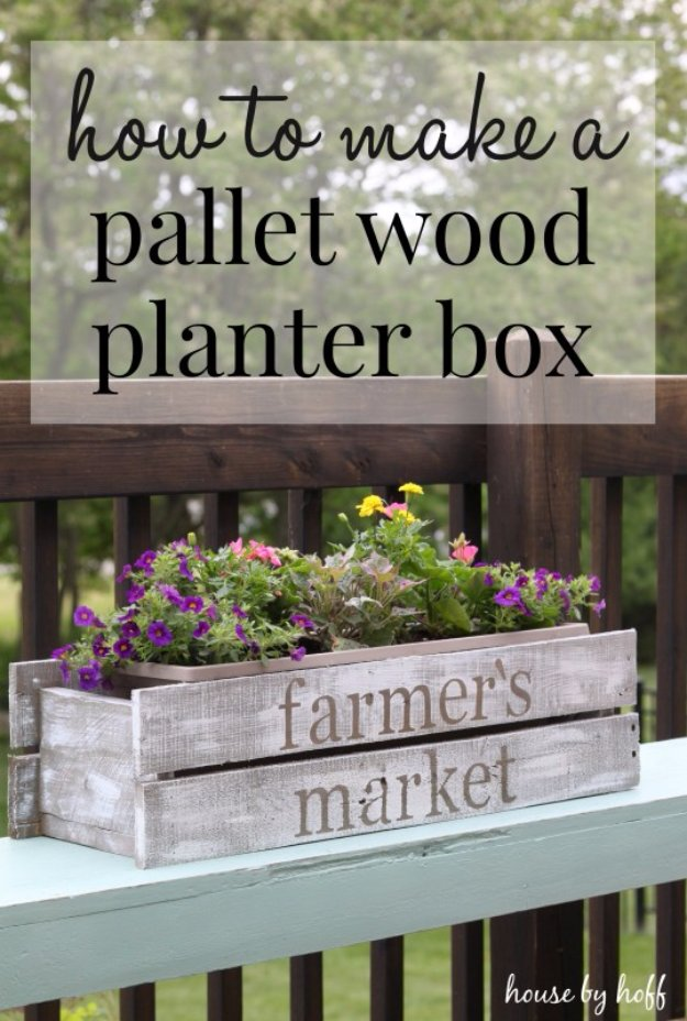 Easy Crafts To Make and Sell - DIY Pallet Wood Planter Box - Cool Homemade Craft Projects You Can Sell On Etsy, at Craft Fairs, Online and in Stores. Quick and Cheap DIY Ideas that Adults and Even Teens #craftstosell #diyideas #crafts