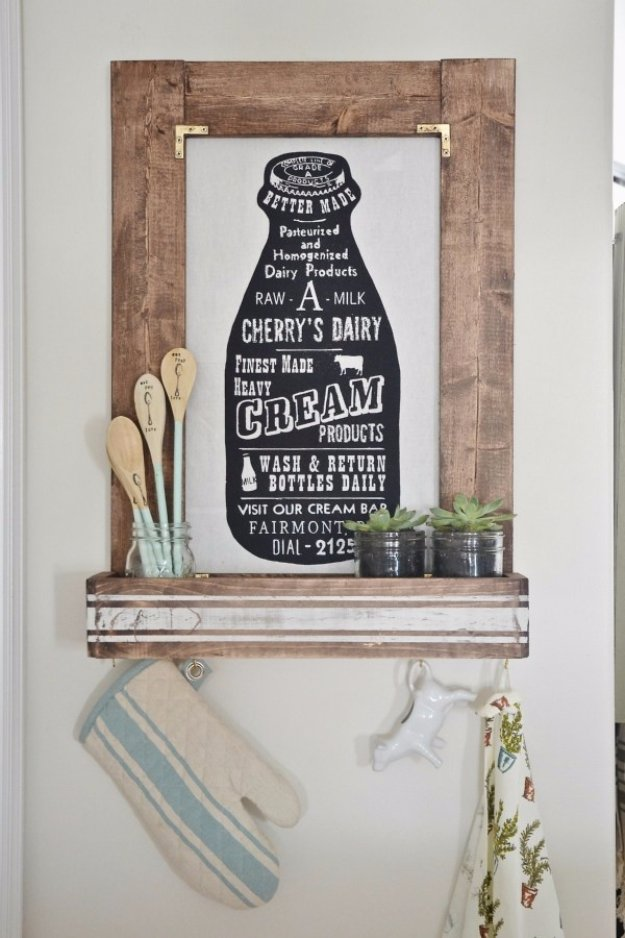 DIY Kitchen Decor Ideas - DIY Planter Box Picture Frame - Creative Furniture Projects, Accessories, Countertop Ideas, Wall Art, Storage, Utensils, Towels and Rustic Furnishings #diyideas #kitchenideass