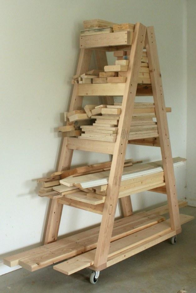 Proyectos DIY su garaje Necesidades -DIY estante de madera de construcción portátil - hágalo usted mismo garaje de cambio de imagen ideas incluyen almacenamiento, organización, estantes, y planes de proyecto del Cool Nuevo Garaje Decoración http://diyjoy.com/diy-projects-garage