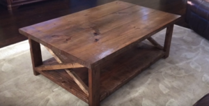 Create This Fabulous Rustic Coffee Table For Your Living Room!