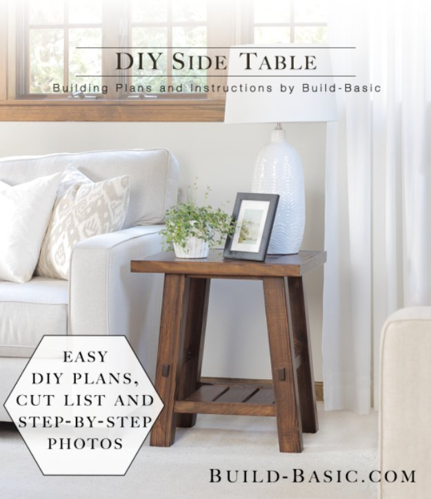 DIY End Tables With Step By Step Tutorials   DIY Side Table   Cheap And Easy