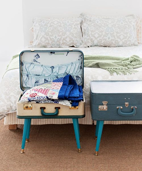 DIY Renters Decor Ideas - DIY Suitcase Table - Cool DIY Projects for Those Renting Aparments, Condos or Dorm Rooms - Easy Temporary Wall Art, Contact Paper, Washi Tape and Shelves to Make at Home  #diyhomedecor #diyideas