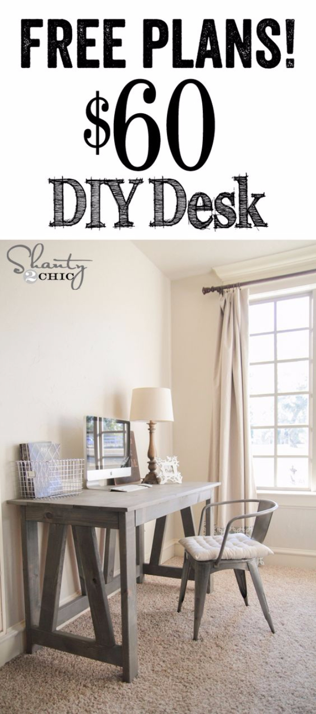 DIY Home Office Decor Ideas - DIY Truss Desk - Do It Yourself Desks, Tables, Wall Art, Chairs, Rugs, Seating and Desk Accessories for Your Home Office #office #diydecor #diy