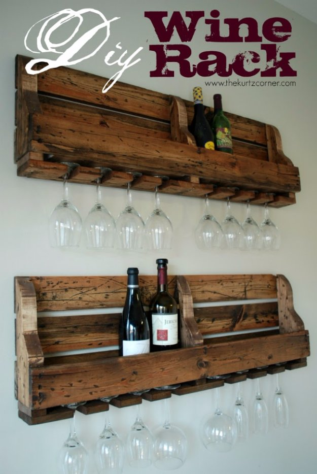 DIY Dining Room Decor Ideas - DIY Wine Rack - Cool DIY Projects for Table, Chairs, Decorations, Wall Art, Bench Plans, Storage, Buffet, Hutch and Lighting Tutorials