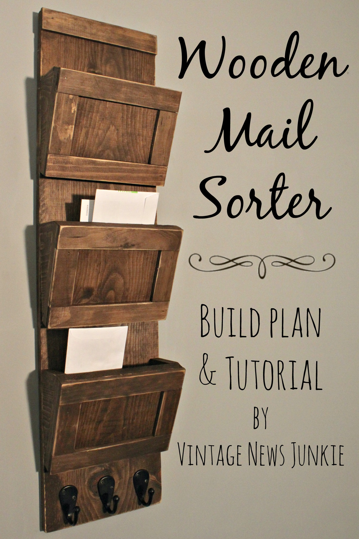 diy wood mail sorter tutorial - diy joy Mail Storage Ideas
