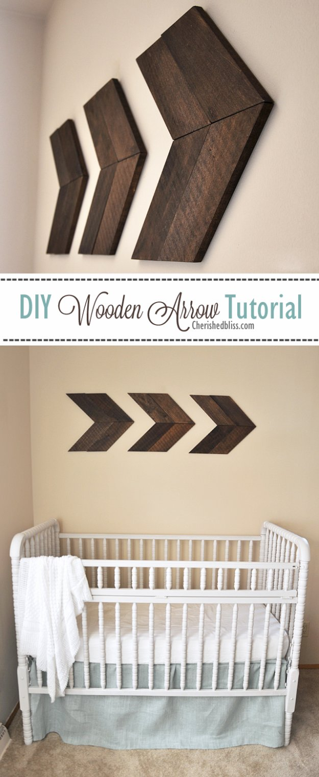 DIY Living Room Decor Ideas - DIY Wooden Arrow Tutorial - Cool Modern, Rustic and Creative Home Decor - Coffee Tables, Wall Art, Rugs, Pillows and Chairs. Step by Step Tutorials and Instructions