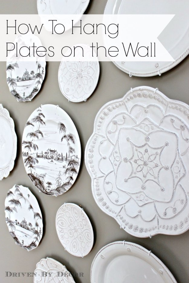DIY Dining Room Decor Ideas - Decorative Plate Wall - Cool DIY Projects for Table, Chairs, Decorations, Wall Art, Bench Plans, Storage, Buffet, Hutch and Lighting Tutorials