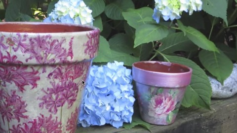 How to Decoupage and Weatherproof Clay Pots…They're Incredibly Easy and So Beautiful! | DIY Joy Projects and Crafts Ideas