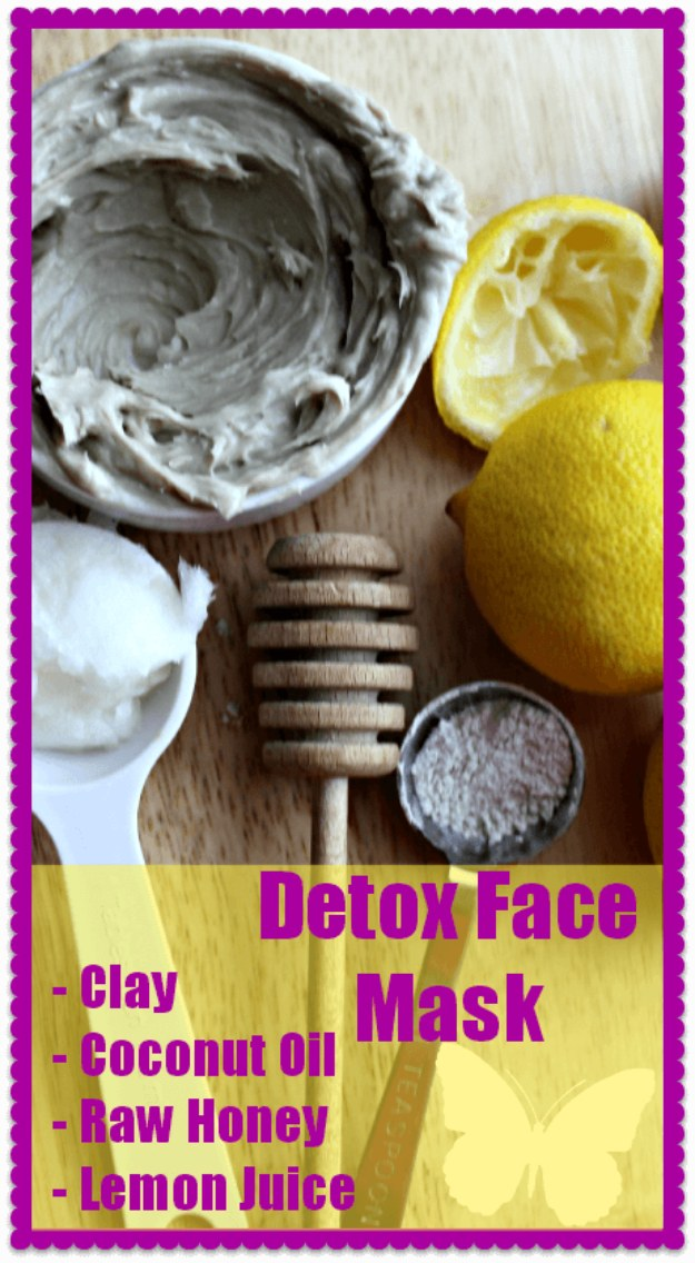 DIY Detox Recipes, Ideas and Tips - Detox Face Mask - How to Detox Your Body, Brain and Skin for Health and Weight Loss. Detox Drinks, Waters, Teas, Wraps, Soup, Masks and Skincare Products You Can Make At Home