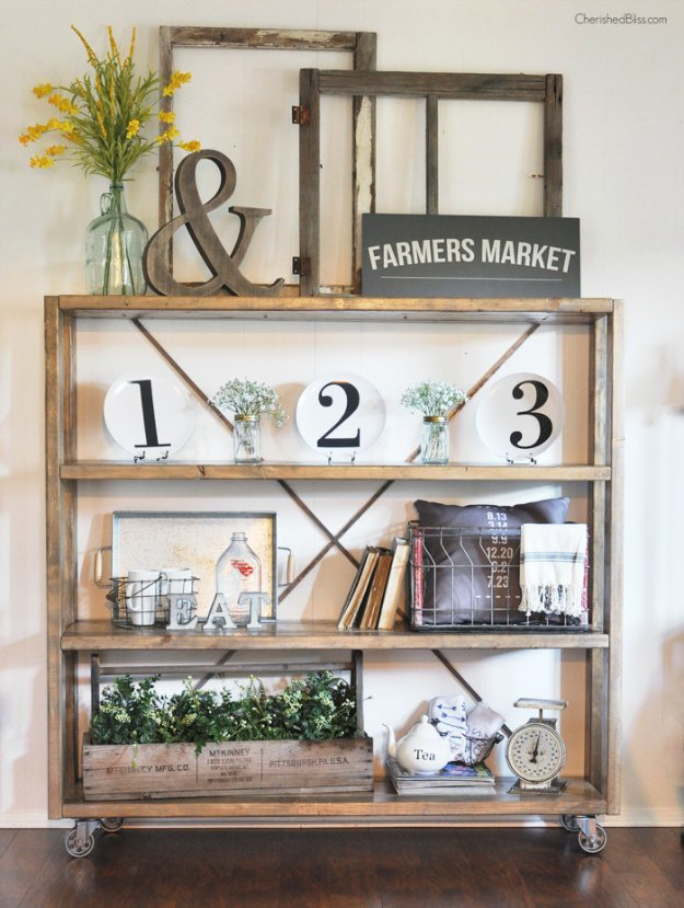 DIY Dining Room Decor Ideas - Dining Room Bookshelf Decor - Cool DIY Projects for Table, Chairs, Decorations, Wall Art, Bench Plans, Storage, Buffet, Hutch and Lighting Tutorials