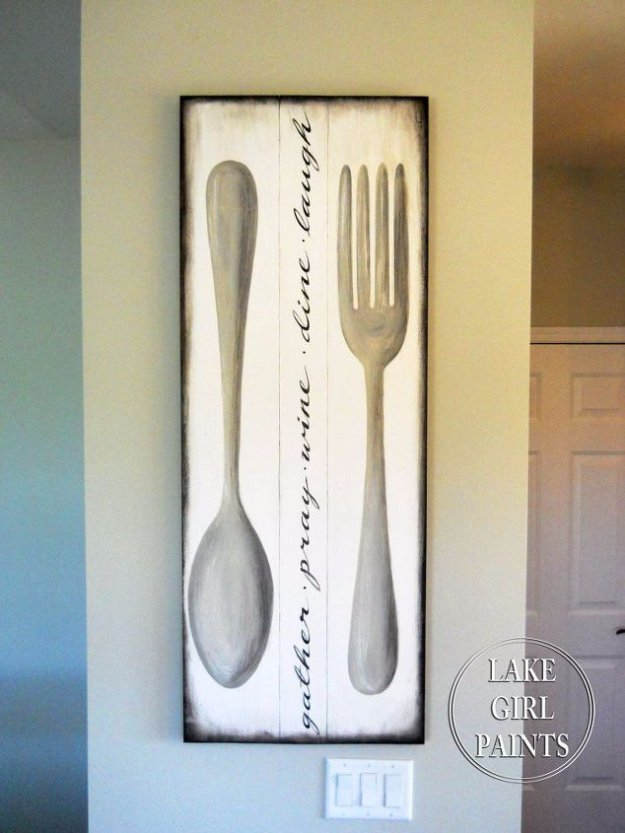 DIY Dining Room Decor Ideas - Dining Room Wall Art - Cool DIY Projects for Table, Chairs, Decorations, Wall Art, Bench Plans, Storage, Buffet, Hutch and Lighting Tutorials http://diyjoy.com/diy-dining-room-decor-ideas